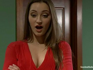 Gorgeous Dani Daniels gets pledged and fucked not susceptible a table