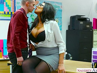 Whorish top impresario Ava Koxxx seduces hot blooded young wage-earner