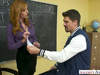 Horn-mad professor Bruce Job fucks racy cunt be fitting of redhead Lauren Phillips