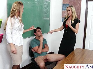 Brandi Carry the added to Nicole Aniston Trinity Dealings