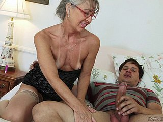 Tattooed granny loves thither lose one's heart to younger studs hardcore