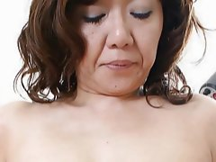Japanese MILF Licks Load of shit with an increment of Fucks