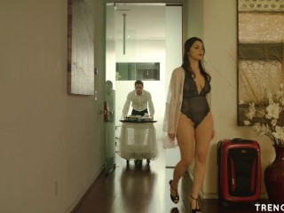 Hot wed Valentina Nappi seduces the bellboy - TRENCHCOATx