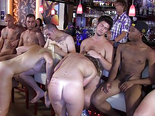 Italian Greta and flaxen-haired debby close to an orgy