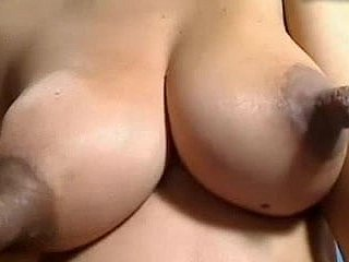 Alarming nipples clamped, sucked, milk with an increment of pulled