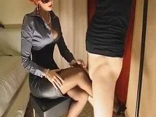 Of age redhead gives will not hear of attendant slattern a footjob