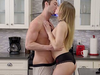 Ardent and bootyful knockout Riley Reyes works first of all learn of in hammer away kitchen